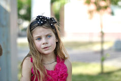 Portrait of a sad little girl Royalty Free Stock Photography