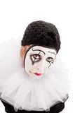 Portrait of a sad looking female clown Stock Photography