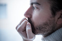 Portrait of sad man Royalty Free Stock Images