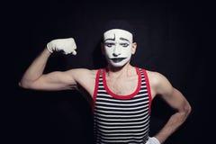 Portrait of sad mime Stock Images
