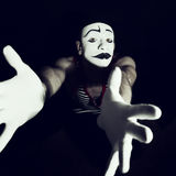 Portrait of sad mime Stock Image