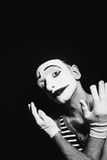 Portrait of sad mime Royalty Free Stock Image