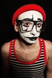 Portrait of sad mime Royalty Free Stock Photography