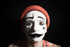 Portrait of sad mime Royalty Free Stock Images