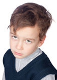 Portrait of sad preschooler Stock Photo