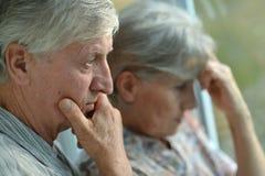 Sad senior couple Royalty Free Stock Photo