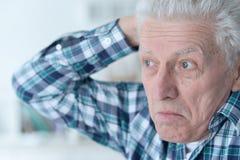 Portrait of Sad senior man Royalty Free Stock Photo