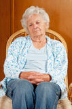 Portrait of Sad Senior Woman Royalty Free Stock Image