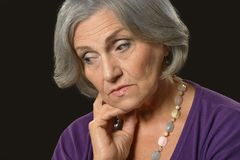 Sad senior woman Royalty Free Stock Image