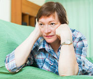 Portrait of sad senior woman Royalty Free Stock Photo