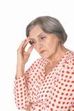 Portrait of a sad senior woman Stock Photography