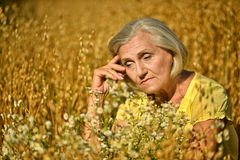 Portrait of a sad senior woman Royalty Free Stock Photos