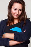 Portrait of sad and stressed pretty busimesswoman Royalty Free Stock Photos