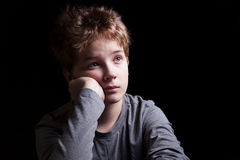 Sad teenage boy Stock Image
