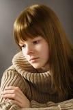 Portrait of sad teenage girl Stock Images