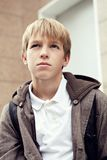 Portrait of  sad teenager outdoor Royalty Free Stock Photography