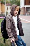 Portrait of  sad teenager outdoor Royalty Free Stock Photo