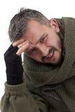 A portrait of a sad terrorist Stock Images