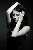 Portrait of sad woman Royalty Free Stock Images