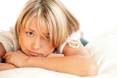 Portrait of sad woman Royalty Free Stock Image