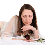Portrait of the sad woman Royalty Free Stock Photography