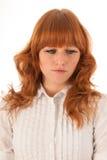 Portrait sad woman Stock Images