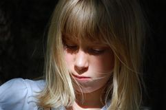 Portrait of sad young girl Royalty Free Stock Images