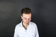 Portrait of sad young man Stock Images