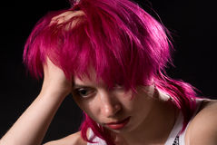 Portrait of sad young woman Royalty Free Stock Photo