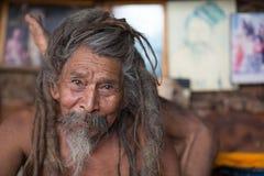Portrait of sadhu in Kathmandu Royalty Free Stock Photography