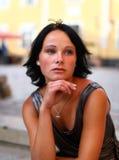 Portrait of sadness beautiful brunette Stock Photo