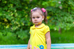 Portrait of sadness little girl Royalty Free Stock Image