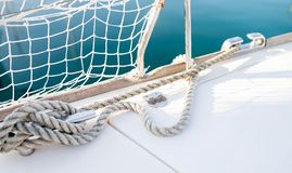 Portrait of sailing boat on open sea Stock Photography