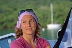 Portrait of sailing lady Royalty Free Stock Photo