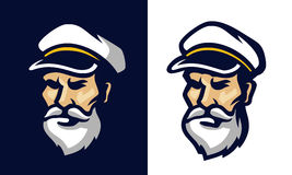 Portrait of a sailor. Vector in two background Stock Photography