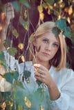 Portrait saisonnier de belle femme Photos libres de droits