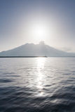 Portrait Sakurajima view from Royalty Free Stock Photo