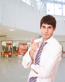 Portrait of a salesman Royalty Free Stock Photography