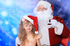 Portrait with santa Royalty Free Stock Image