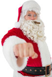 Portrait of santa with cigar Stock Photography