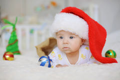 Portrait of Santa Claus Baby Royalty Free Stock Photography