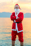 Portrait of Santa Claus at dawn Stock Photo