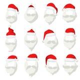 Portrait Santa Claus face cut mask silhouette Stock Photo