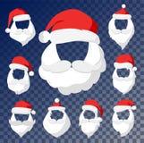 Portrait Santa Claus face cut mask silhouette Royalty Free Stock Image