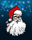 Portrait of Santa Claus with glasses Stock Images