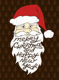 Portrait Of Santa Claus With Greeting Text. Royalty Free Stock Photos