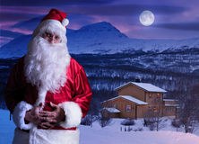 Portrait of Santa Claus at the North Pole. Magical portrait of Santa Claus at the North Pole Stock Photography