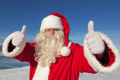 Portrait of Santa Claus outdoors Stock Image