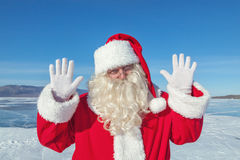Portrait of Santa Claus outdoors Stock Images