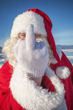 Portrait of Santa Claus outdoors Royalty Free Stock Photo